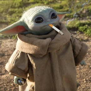 Baby Yoda at the Chateau